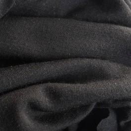 Schwarz Ripp-jersey
